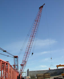Markload system on construction crane.